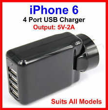 iPhone 6 6 Plus AC Wall Charger 4 Port USB