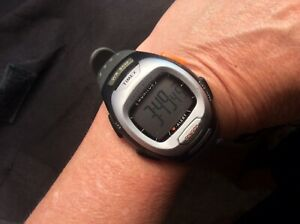 Timex Digital Watch Personal Heart Rate Monitor Water Resistant Gray Band