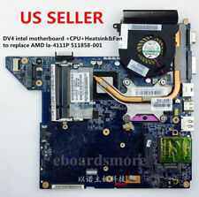 HP DV4 intel motherboard CPU/Heatsink/Fan replaces 511858-001 la-4111p  US Loc A