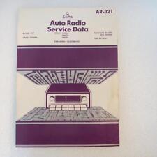 Sams AR-321 Auto Radio Service Data 1981 1st Edition Description has Models