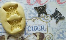 Two Part Steampunk Butterfly Flexible Silicone Mold for polymer clay, resin, etc
