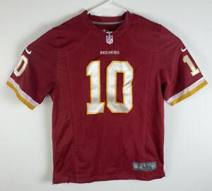 Men Nike NFL On Field Washington Redskins Griffin III #10 football mesh jersey L