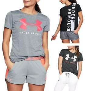 Under Armour Womens Short Sleeve Gym T-Shirt Fitness Top Sports Tee Pullover