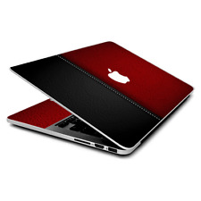 Skin Wrap for MacBook Pro 15 inch Retina  Black and Red Leather Pattern