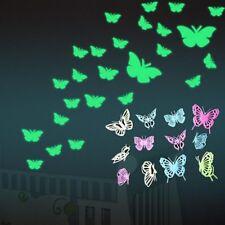 DIY Room Decor Home Kids Luminous Fluorescent Wall Stickers Butterfly