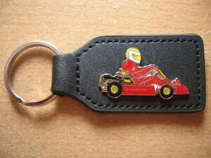 Schlüsselanhänger Kart Cart Rennkart Renncart in rot red Art. 0653 Keyholder