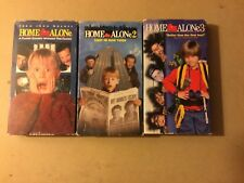 Home Alone Trilogy 1 2 3 VHS Tapes Set Of 3 (Lot Christmas Video's)