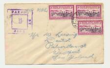 NEW ZEALAND (MEF) 1940's EGYPT TO WESTPORT CENSOR COVER, CENS#373
