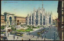 AX0691 Milano - Piazza del Duomo animata - Cartolina postale - Postcard