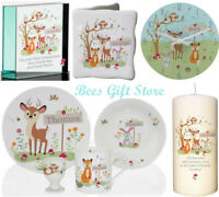 PERSONALISED Childrens WOODLAND SCENE New Baby Gift IDEAS for Boys Girls Born