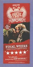 THE GREAT COMET of 1812 rare flyers from the B'way musical JOSH GROBAN lot# of 4