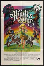 HEIDI'S SONG Movie Poster 27x41 Folded HANNA-BARBERA 1982 Based on JOHANNA SPYRI
