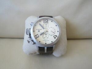 U-Boat Italo Fontana Classico Chrono 1st Edition Sterling Silver 925 Men's Watch