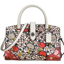 New Coach Mercer Satchel 24 in Multi Floral Printed Leather 57703 artful floral