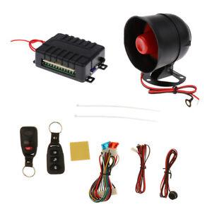 Car Security Alarm System W 2 Remotes Shock Sensor Siren