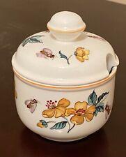 Villeroy & Boch 'Malaga' Covered Jam/Sugar Jar Bees and Yellow Blossoms
