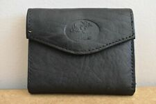 Buxton Women's Leather Mini Trifold Wallet with Floral Emboss Black