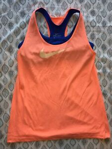 Nike Tank Top With Built-in-bra Pink And Blue Large