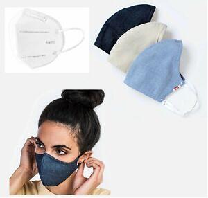 Face Mask-Hedley & Bennett awakeup & fight mask-Dark Blue w/ 2 filter, template