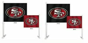 San Francisco 49ers NFL Home and Away Car Flag ( set of two )