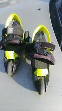 Cardiff Cruiser Roller Skates Youth 12-5 Boys/12-6 Girls Black/Neon Skate Co