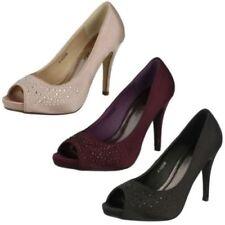 Satin Stilettos Slip On Shoes for Women