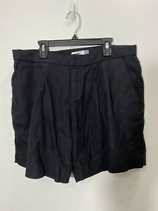 old navy womens shorts black linen rayon blend size 10