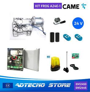 CAME FROG-A24E - KIT COMPLETO CANCELLO A SCOMPARSA 1 BATTENTE 24V + ENCODER