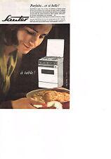 PUBLICITE ADVERTISING  1963   SAUTER   cuisinière