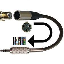 Ta3f 3 Pin Mini Micrófono Xlr Adaptador Para Ipad Iphone Ipod Video aplicaciones de audio