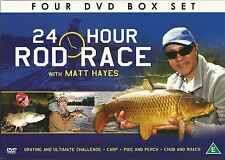 24 HOUR ROD RACE WITH MATT HAYES - 4 DVD GIFT SET - CARP, PIKE PERCH & MORE