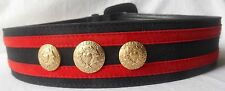 ESCADA Vintage Belt 36 6 Blue Red Suede Leather Gold Valour for Glamour Charms