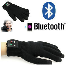 Women/Men Touch Screen Gloves For Smart Phone Tablet Iphone Gloves Bluetooth BLK