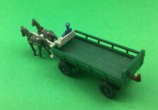 Wiking HO 1:87 Wagen mit zwei Pferden seltene Wiking Rarität top