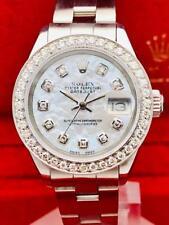 Estate ~ ROLEX Datejust Stainless Steel 26mm Ladies Watch Diamond Pearl Dial