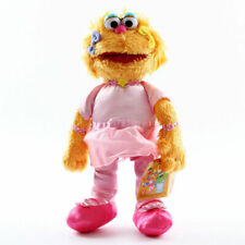 New 12'' Sesame Street Zoe Furry Plush Pink Soft Doll Cuddle Stuffed Toy Teddy