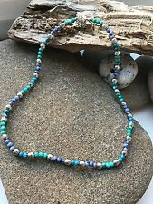 Surf Necklace - Turquoise/Lilac Beads -Surfing Lifestyle