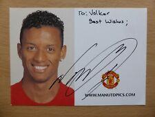 2007-08 Nani Signed Man Utd Club Card (18526)