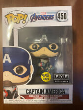 Glow in Dark Captain America Fye Exclusive Marvel Avengers 450 GITD Free Ship!