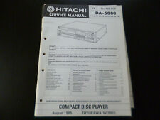 Original Service Manual Schaltplan Hitachi DA-5000