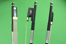 New high quality black 4/4 Carbon fiber cello bow Ebony Frog white horse hair