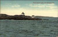 Victoria BC Trail Island Lighthouse c1910 Postcard