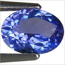 1.01 Ct A+ Natural D Block Tanzanite Medium Light Blue Violet Color Oval Cut
