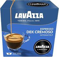 CAPSULE LAVAZZA A MODO MIO DECAFFEINATO ORIGINALI CIALDE CAFFE DEK CREMOSO 16 PZ