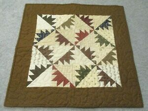 """Hand Made Quilted Table Runner/ Topper /Mat ~ Multi-Color  ~ 21.5"""" x 21.5"""""""