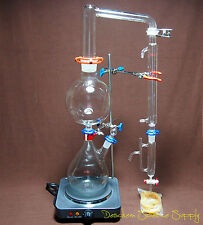 Essential Oil Steam Distillation Apparatus,Lab Distillation Unit,With Hot Stove
