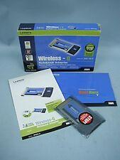 Linksys Wireless G Notebook Adapter #WPC54G In Original Box