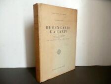 Berengario da Carpi Vittorio Putti Cappelli Bologna 1937 Medicina De Fractura