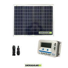 Kit solare pannello fotovoltaico 50W regolatore di carica EpSolar 10A prese USB