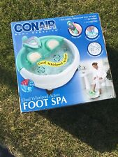 Conair Body Benefits Dual Whirlpool Action Foot Spa Brand New Never Opened Mint